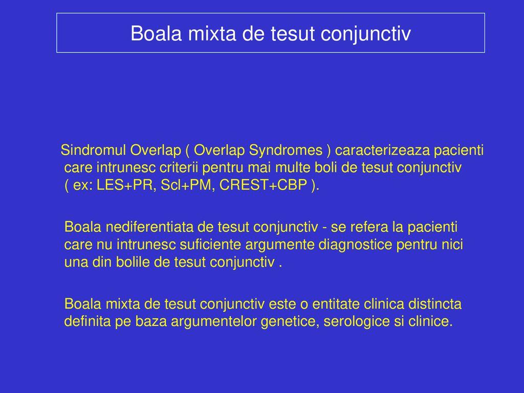 tratamentul mixt al bolilor țesutului conjunctiv mixt