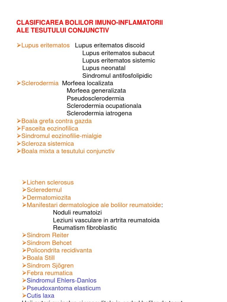 debutul bolii țesutului conjunctiv