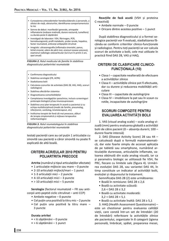 clasificarea bolilor inflamatorii ale articulațiilor