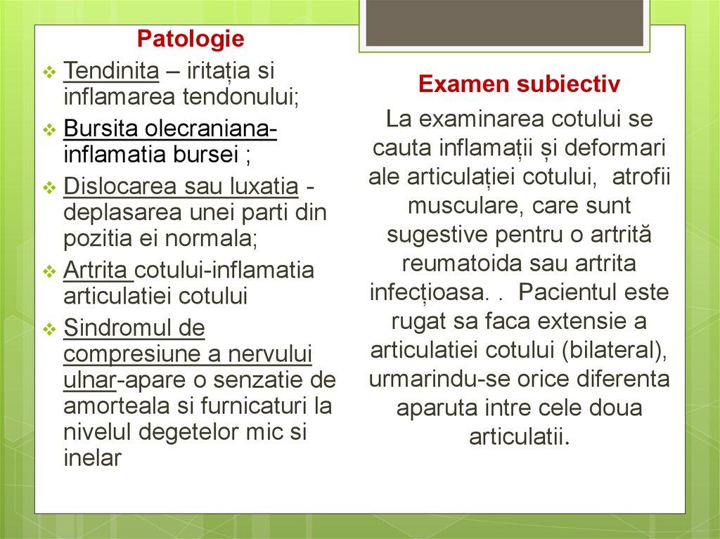 unghiile de extensie ale articulației umărului