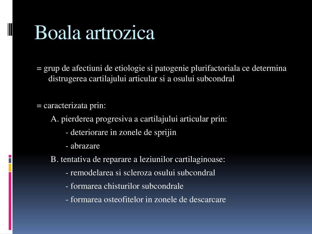 clase de boli osoase și articulare)