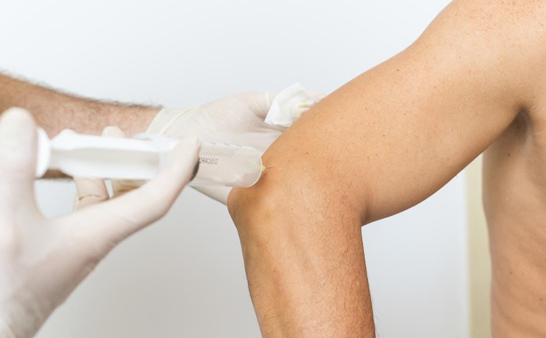 tratamentul infiltrat la genunchi
