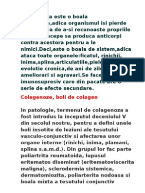 boli difuze ale țesutului conjunctiv de colagenoză