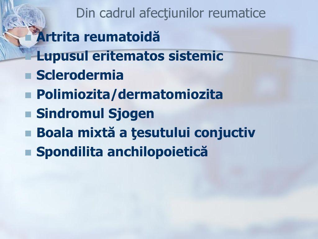boli sistemice ale sarcoidozei țesutului conjunctiv)