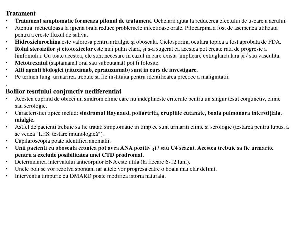 debutul bolii țesutului conjunctiv)