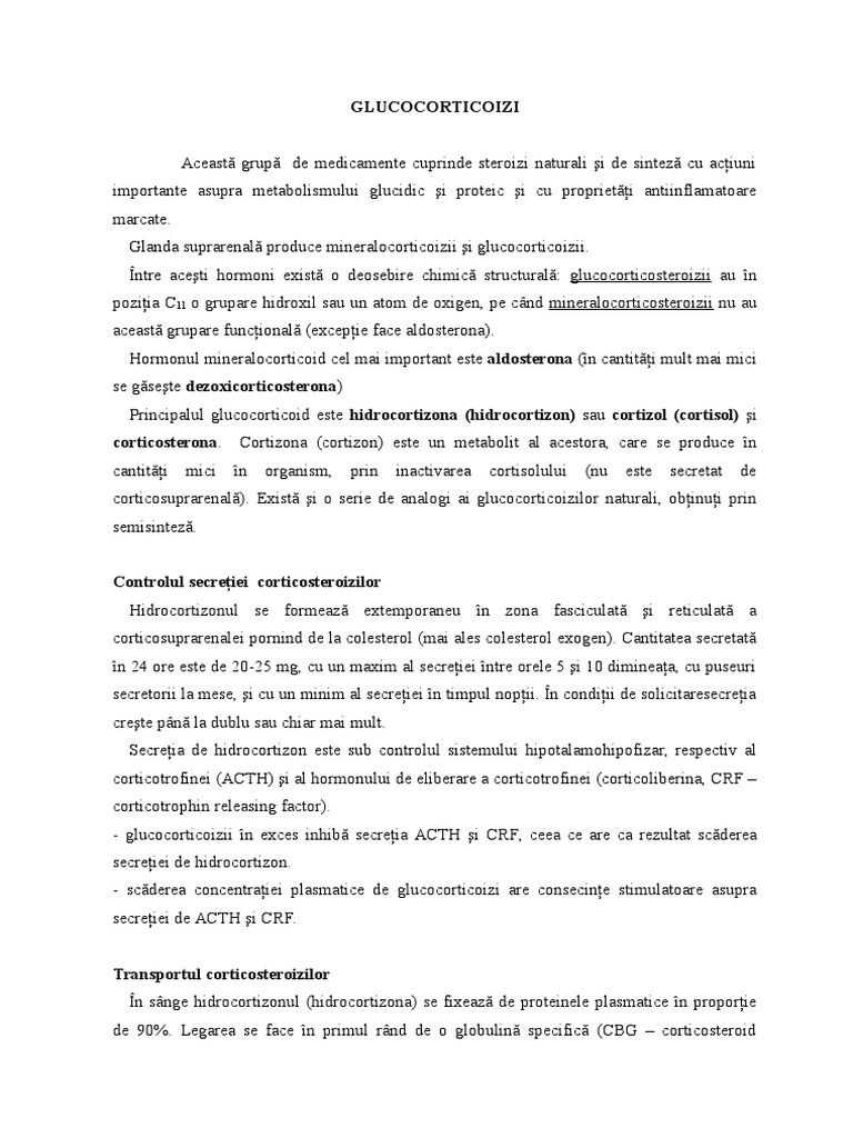 glucocorticoizi în tratamentul articular)
