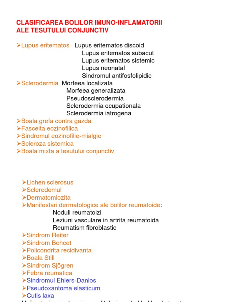 boala de țesut conjunctiv artropatie inflamatorie)