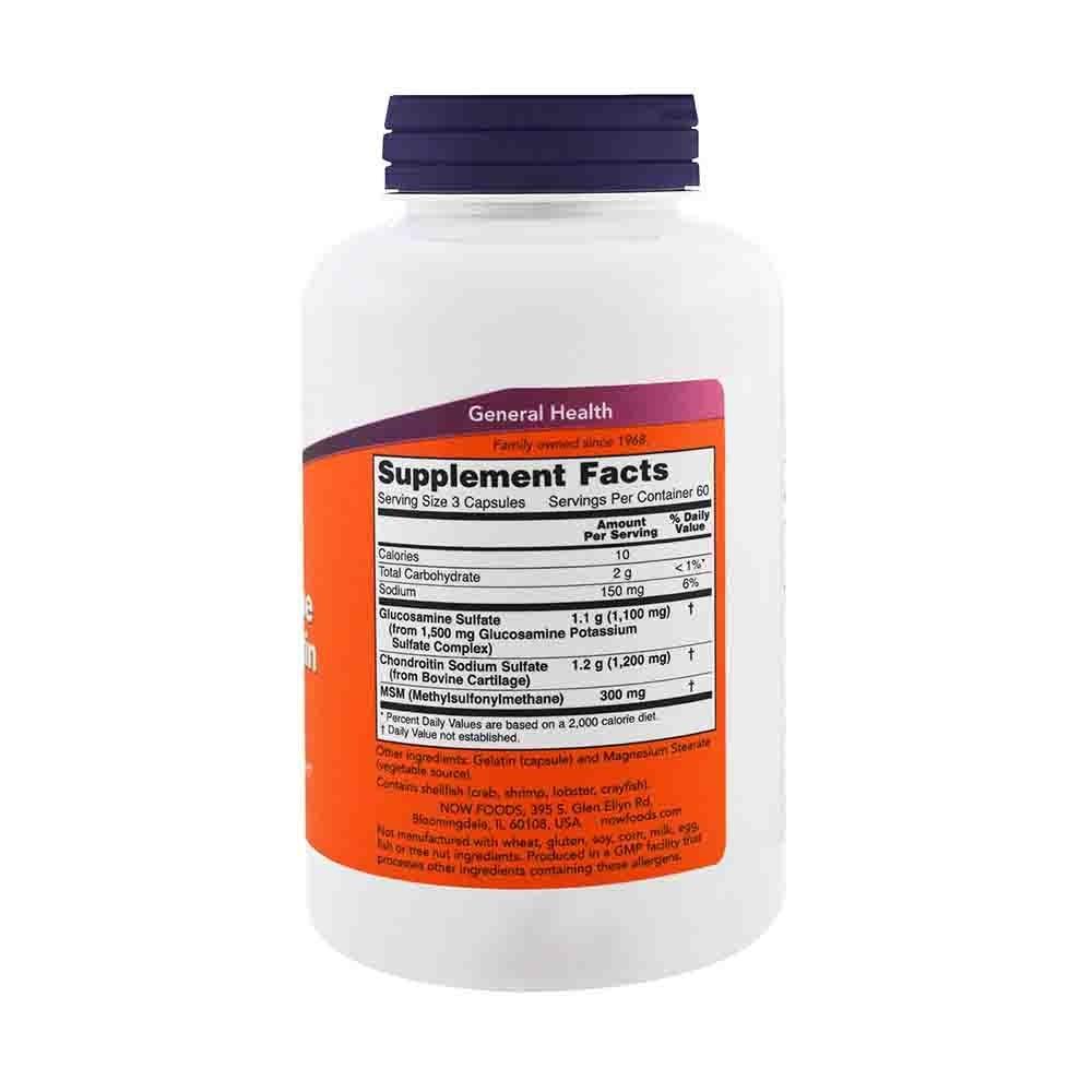 Glucozamină, MSM și Condroitina cu Vitamina C, 90 tablete, Natures Aid
