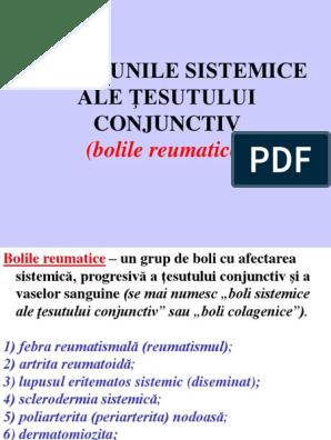 boli sistemice ale țesutului conjunctiv)