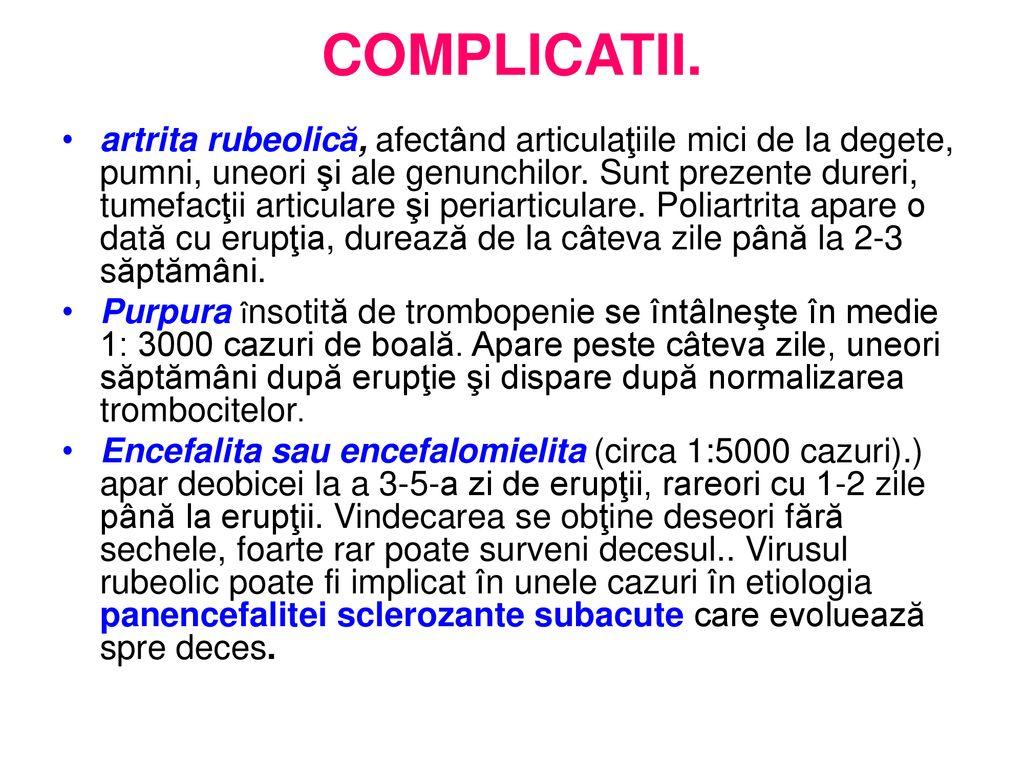 limfocitoza si dureri articulare)