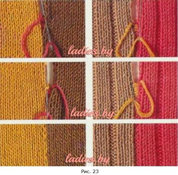 îmbinarea articulațiilor de la tricotat