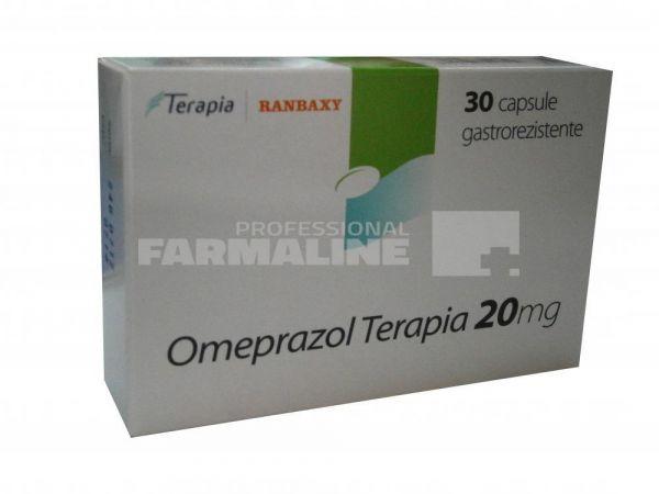 Omeprazol Terapia 20mg, 3 blistere x 10 capsule gastrorezistente