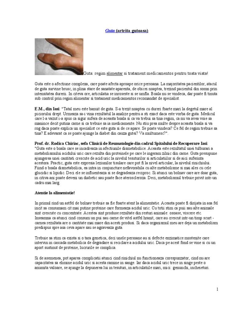 schema de tratament cu artrita)