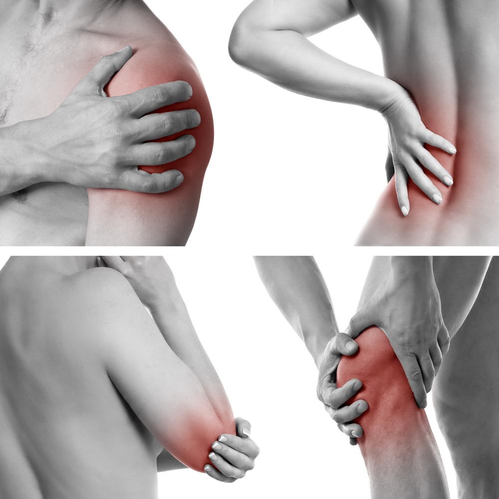 toate articulațiile din partea stângă rănite)