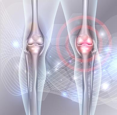 acumularea de lichide în articulațiile genunchiului)