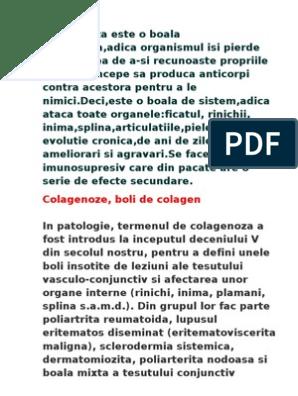boli difuze ale țesutului conjunctiv de colagenoză)