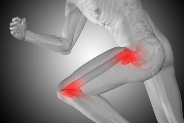 piciorul doare în articulația șoldului și genunchiul