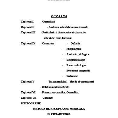 coxartroza articulației șoldului tratament de 1 grad