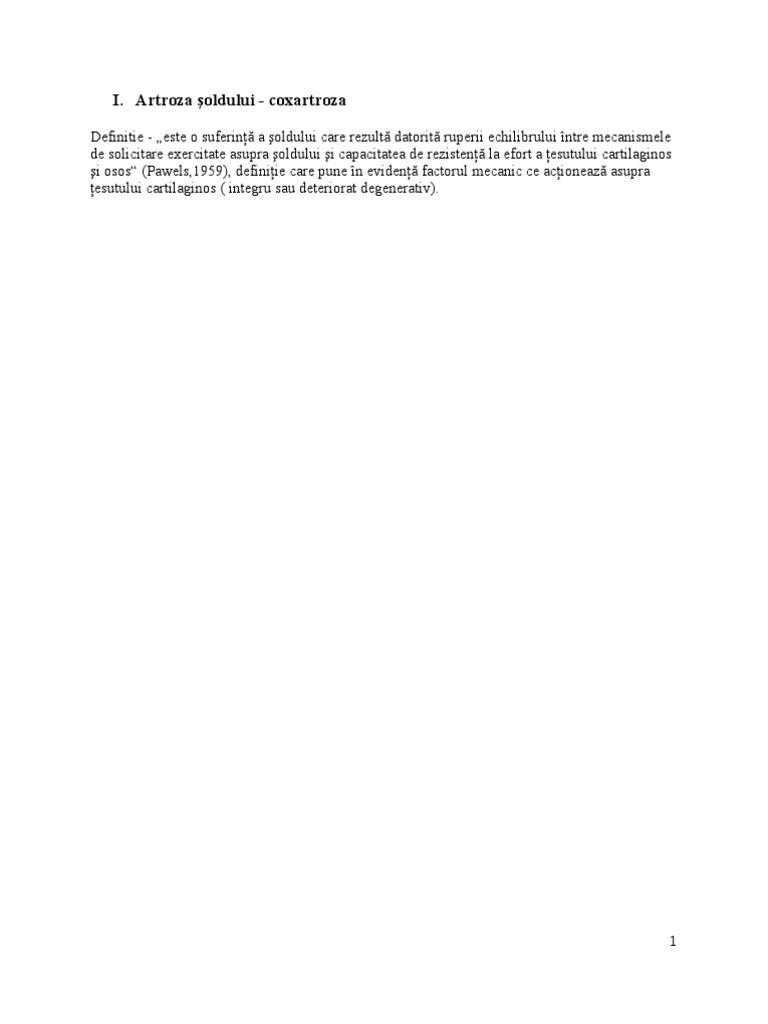 Durere în articulația șoldului - Manșetă